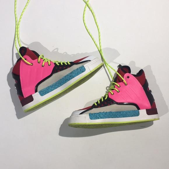 b726487b4eb0 Adidas Y-3 Hightop Rival Multicolor Sneakers. M 5ab492bc8af1c579721bb1f5